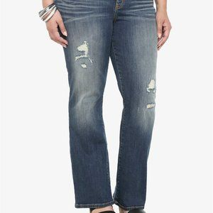 Torrid Relaxed Bootcut Distressed Denim Jeans